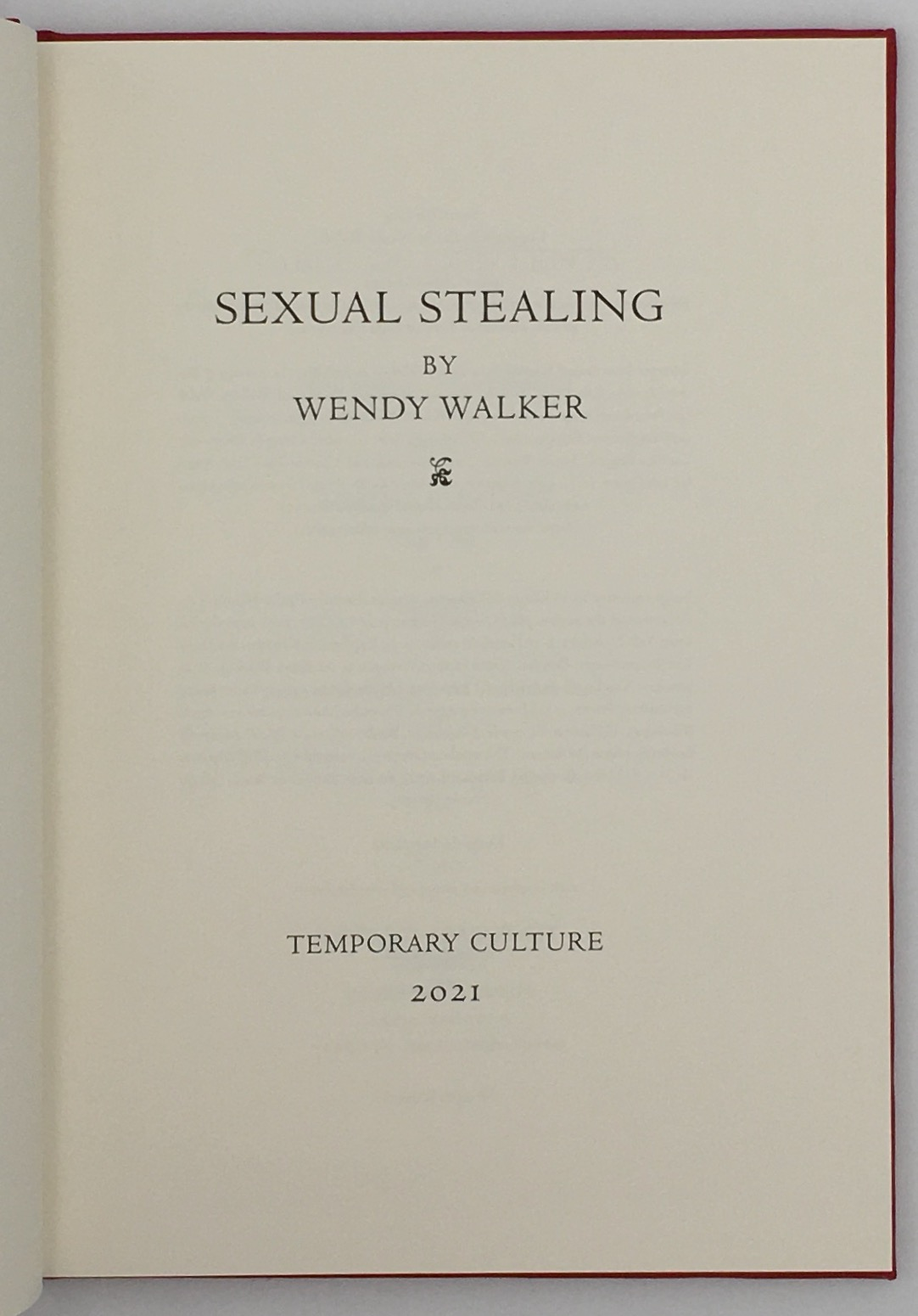 Sexual Stealing - title page